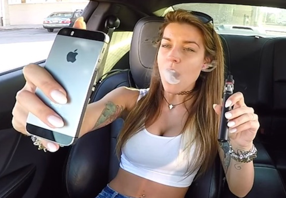 marijuana vaporizer in car